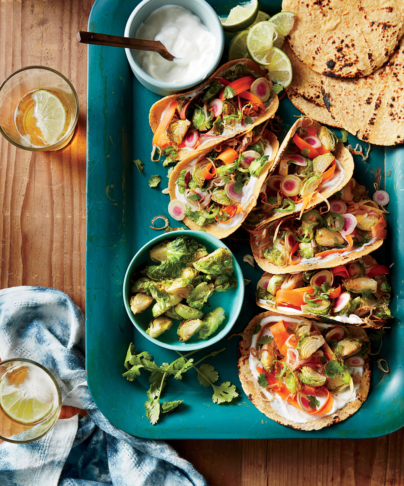 Fried Brussels Sprout Tacos image