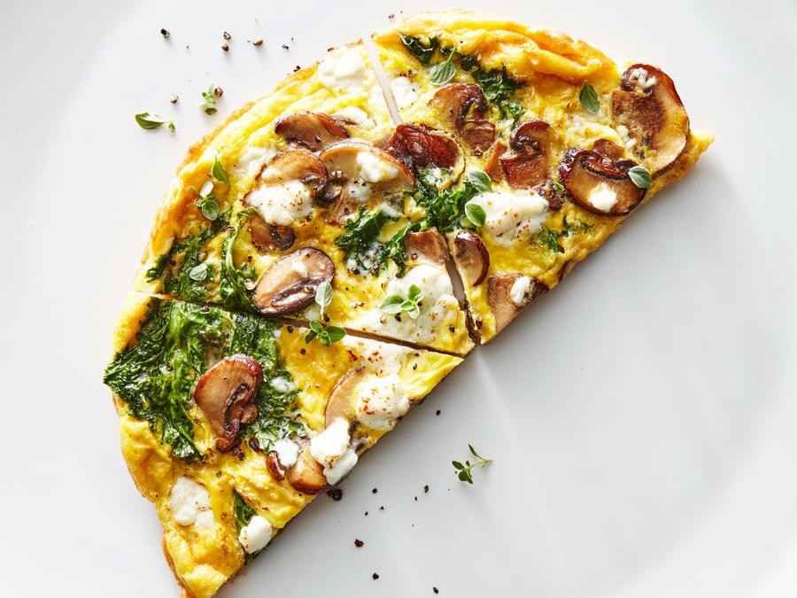 Kale and Mushroom Frittata