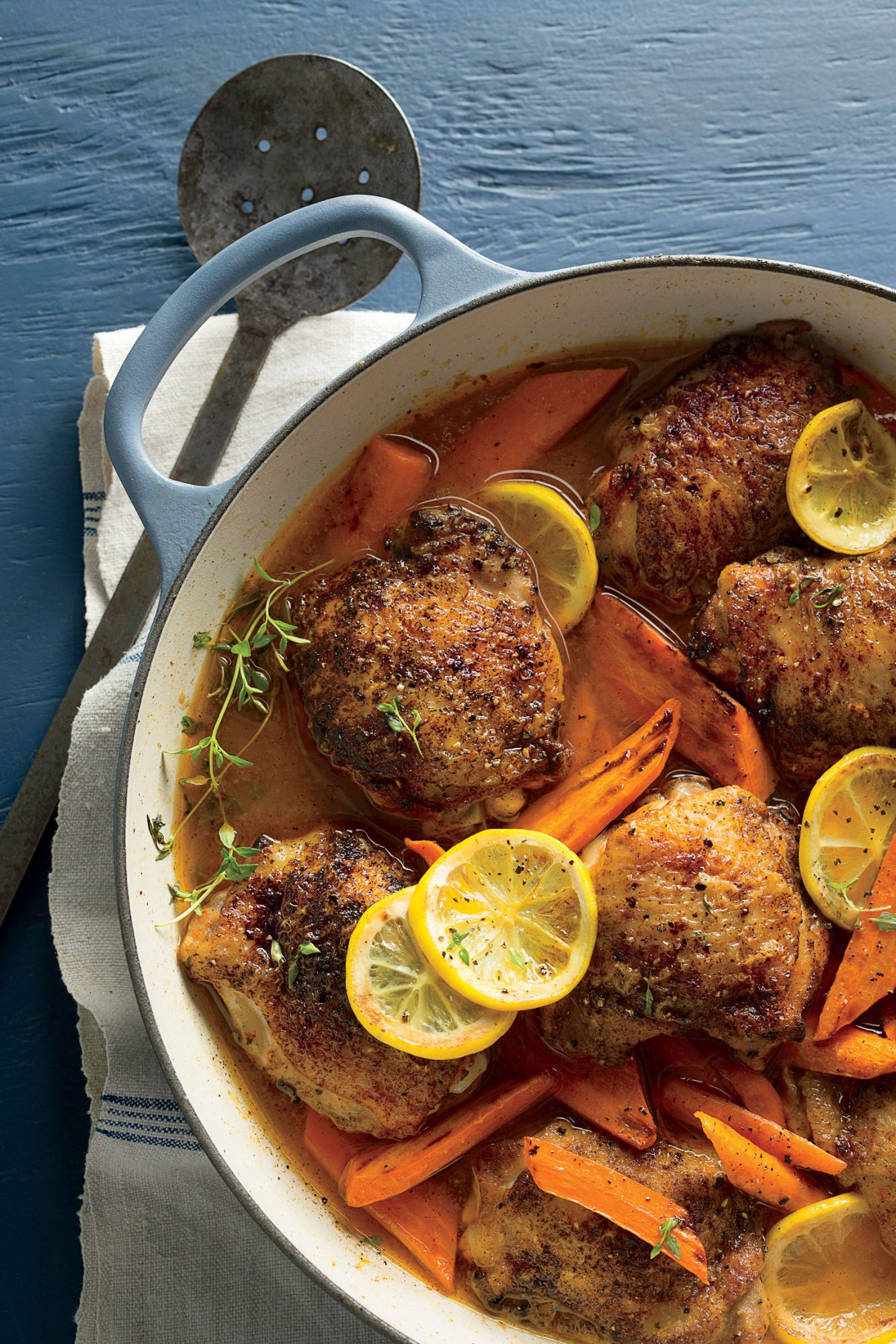 Braised Chicken Thighs with Carrots and Lemon image