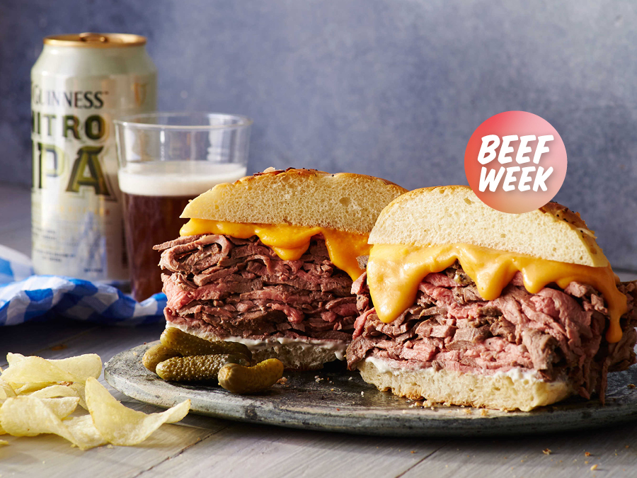 Beef Week Day 5: Roast Beef and Cheddar Sandwich with Horseradish Sauce