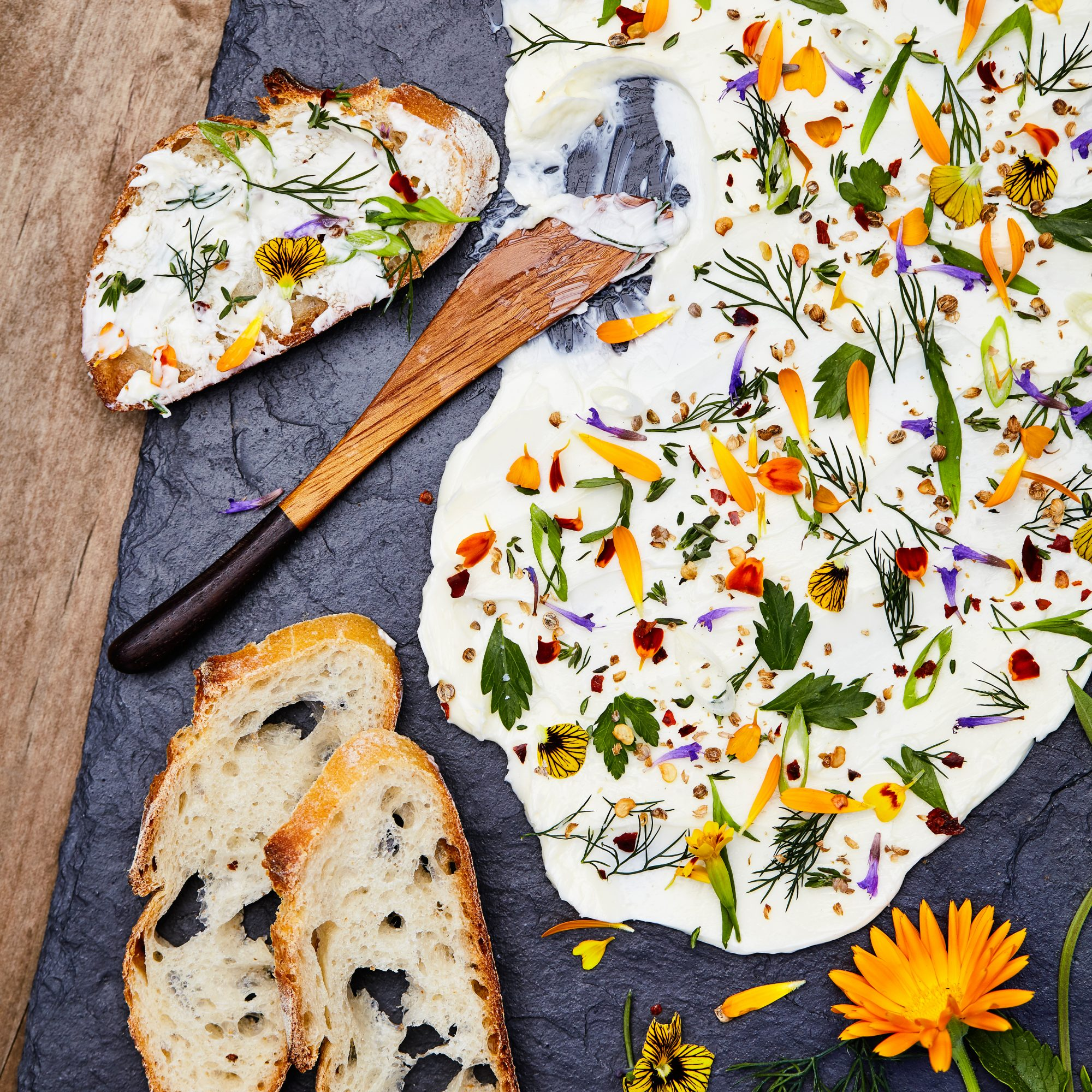 Flower and Herb Butter