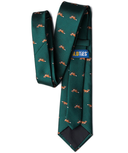 Prowling Foxes Tie