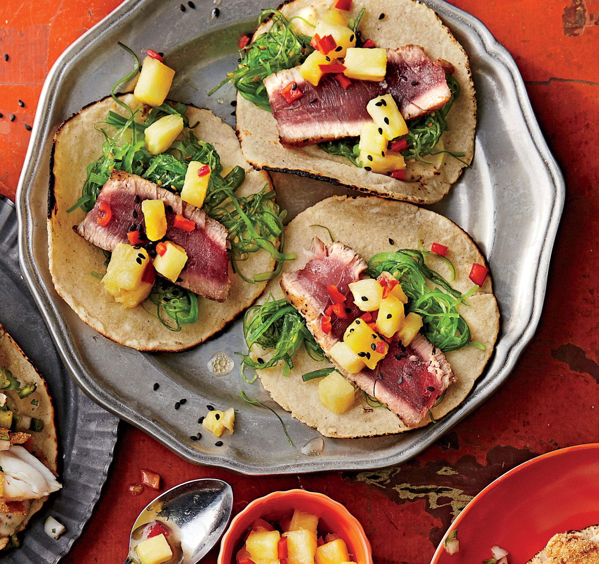 Hawaiian Tuna Tacos Recipe