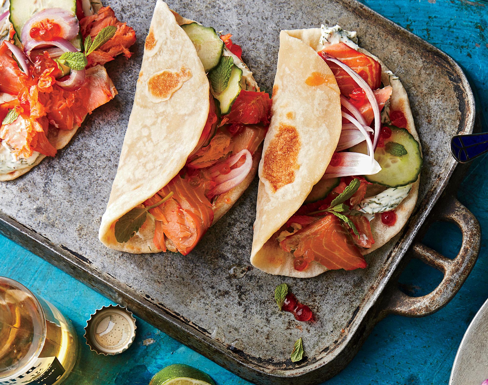 c85675a0 Pacific Northwest Smoked Salmon Tacos Recipe | MyRecipes