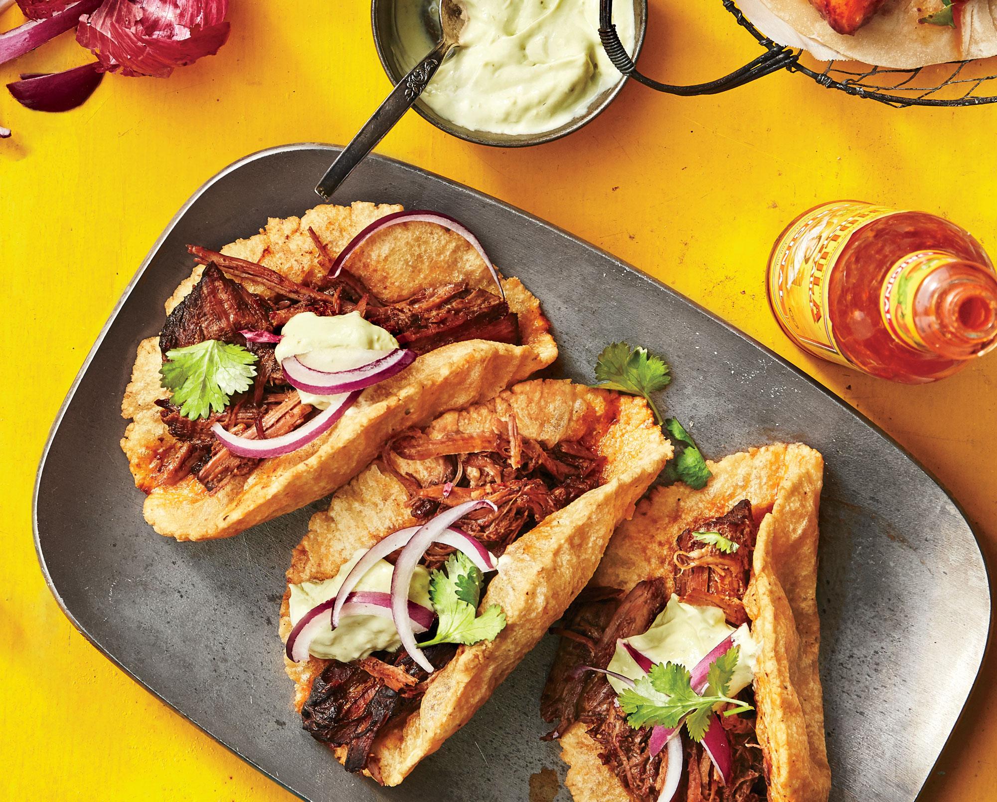 Texas-Style Puffy Barbacoa Tacos image