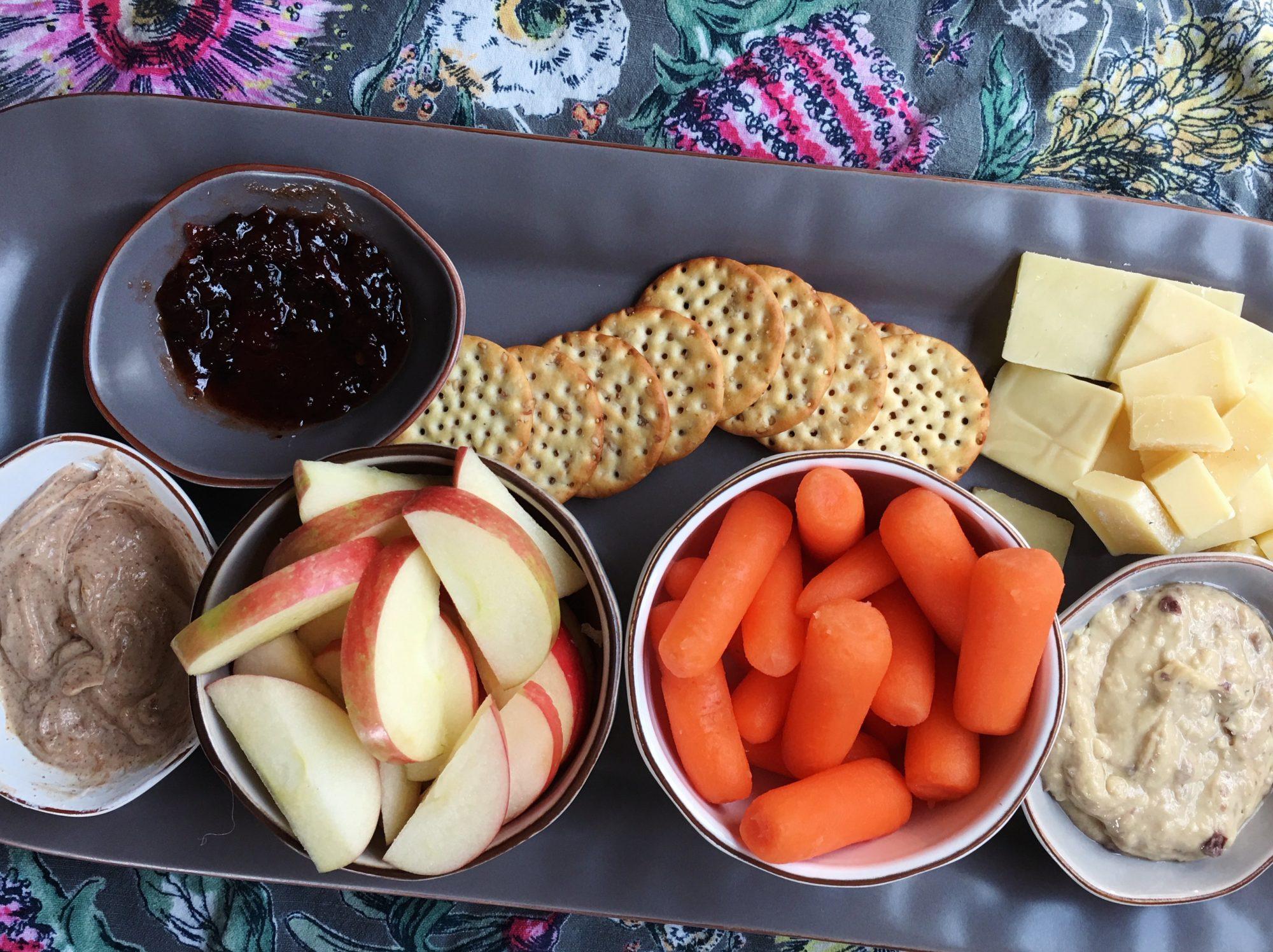 snack dinner apples carrots
