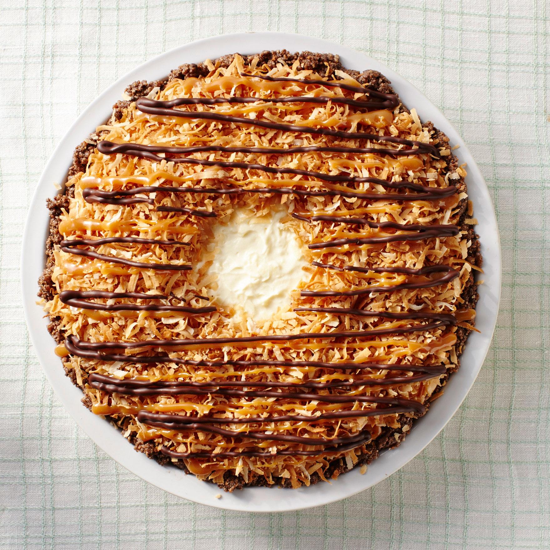 No-Bake Samoa Pie