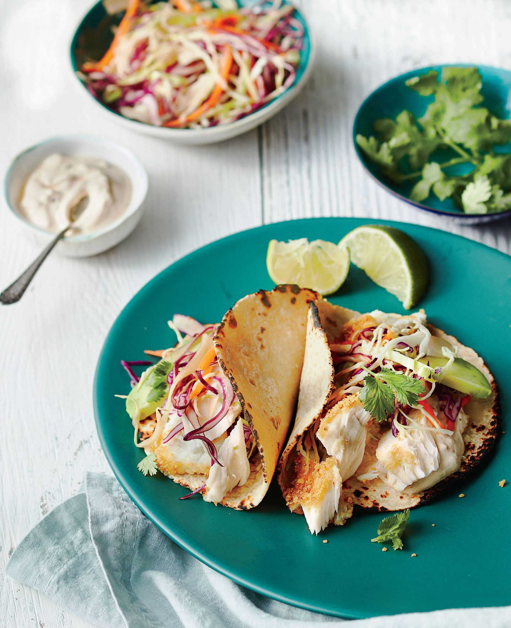 Fish Tacos and Topping Bar image
