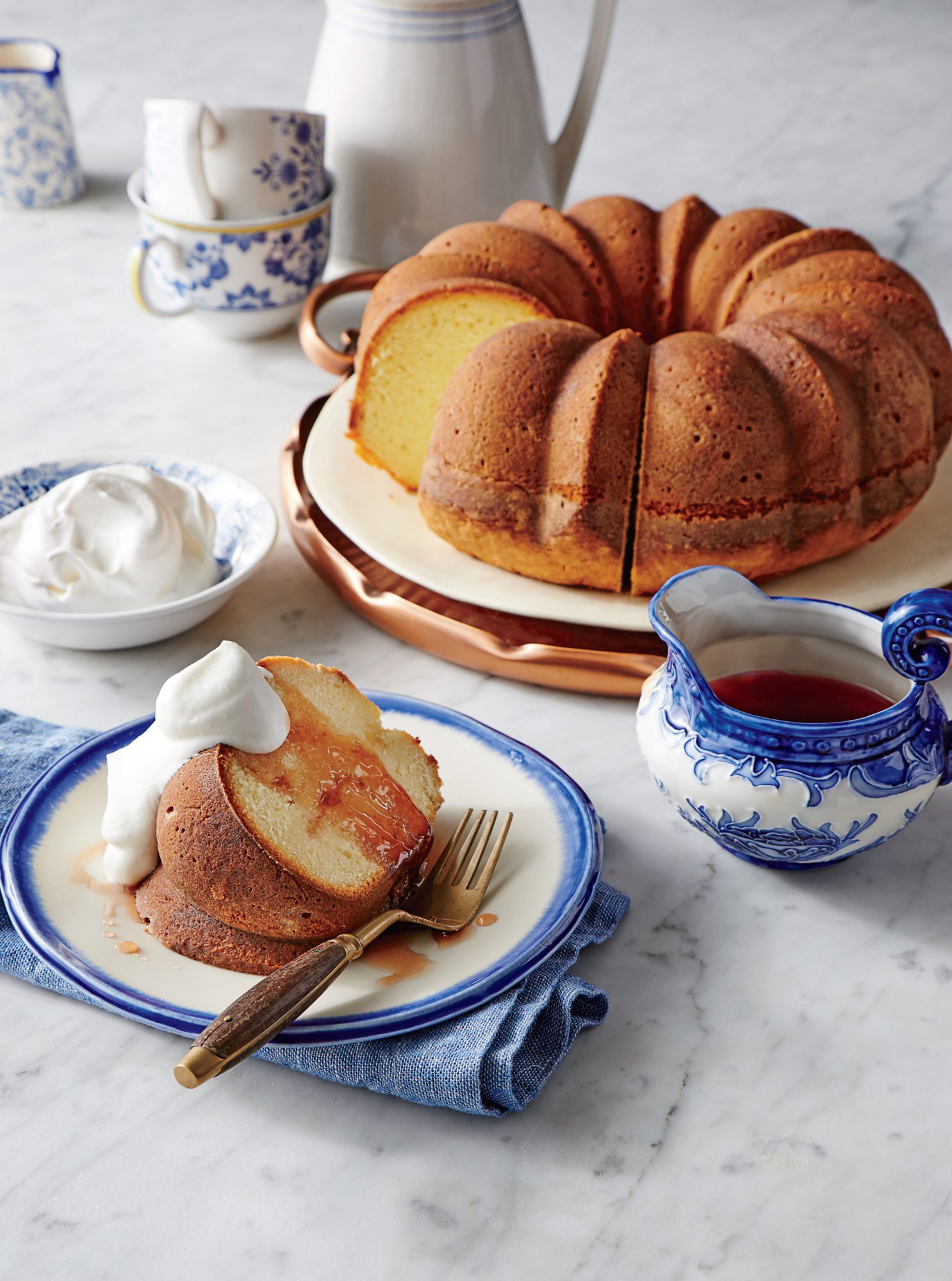 Yogurt Pound Cake With Pomegranate Syrup