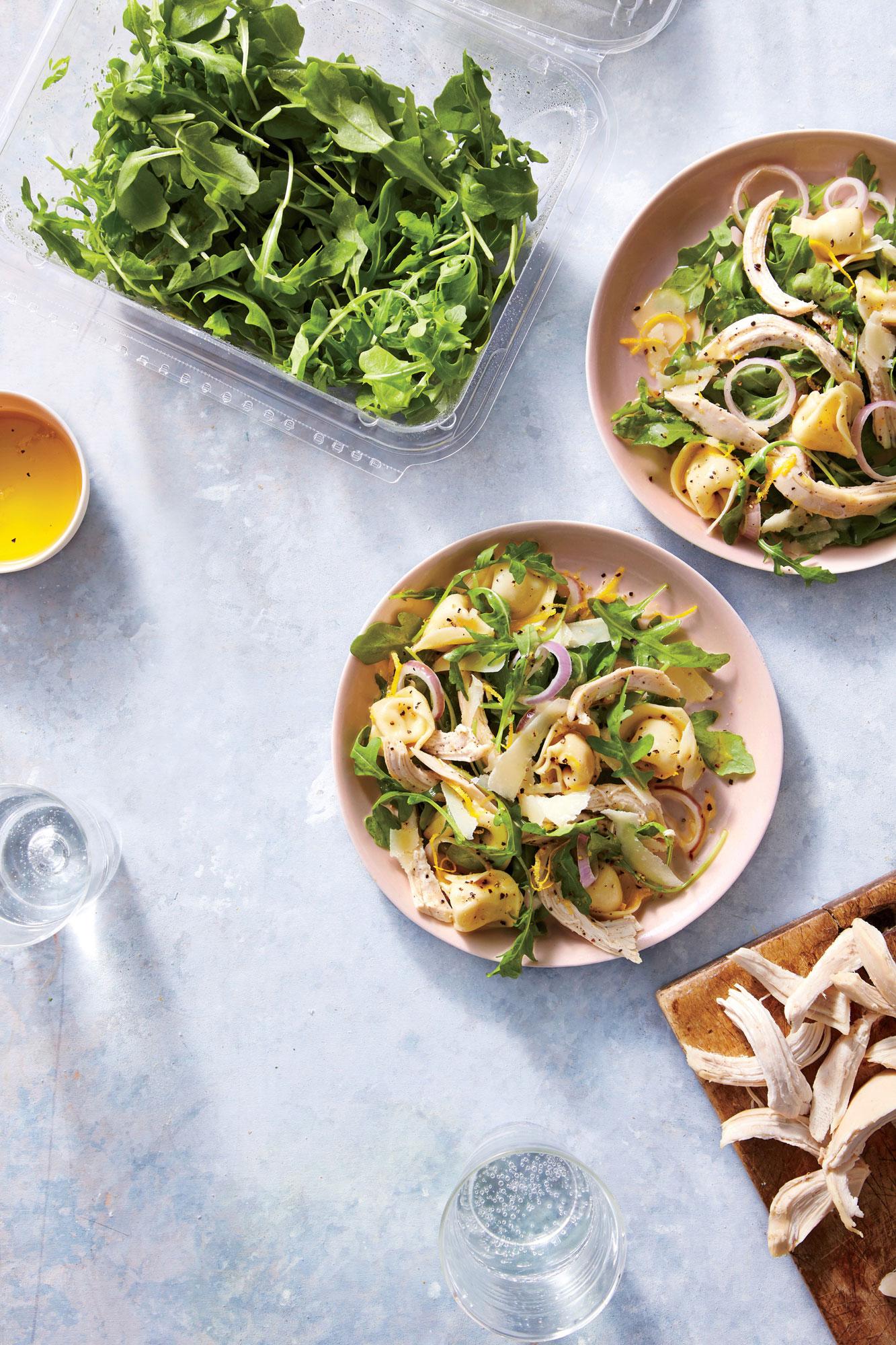 Tortellini, Chicken, and Arugula Salad