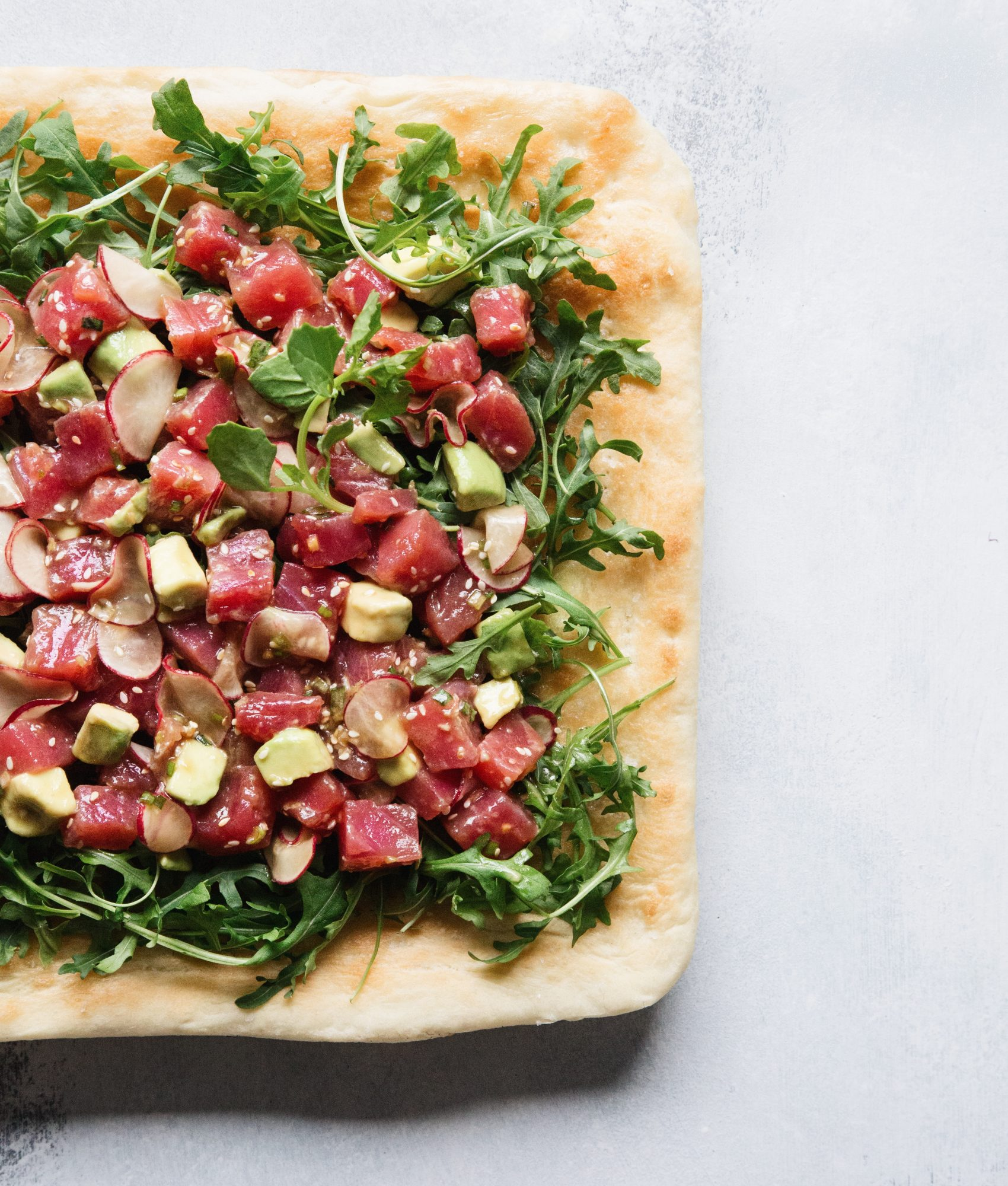 Ahi Tuna Poke Pizza 