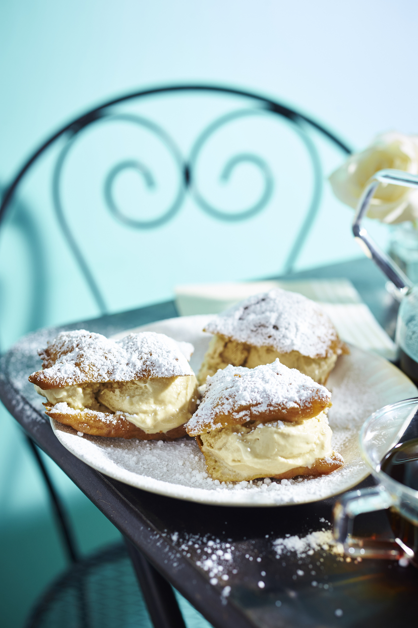 Beignet Ice Cream Sandwiches image