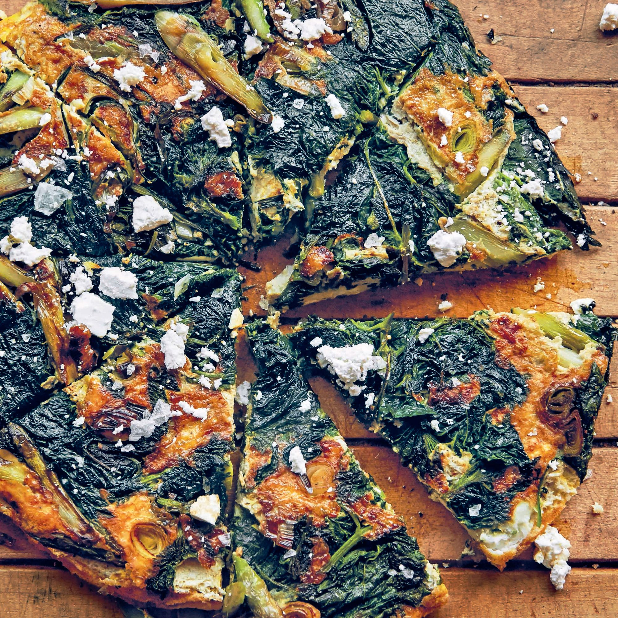 Asparagus, Nettle, and Green Garlic Frittata image