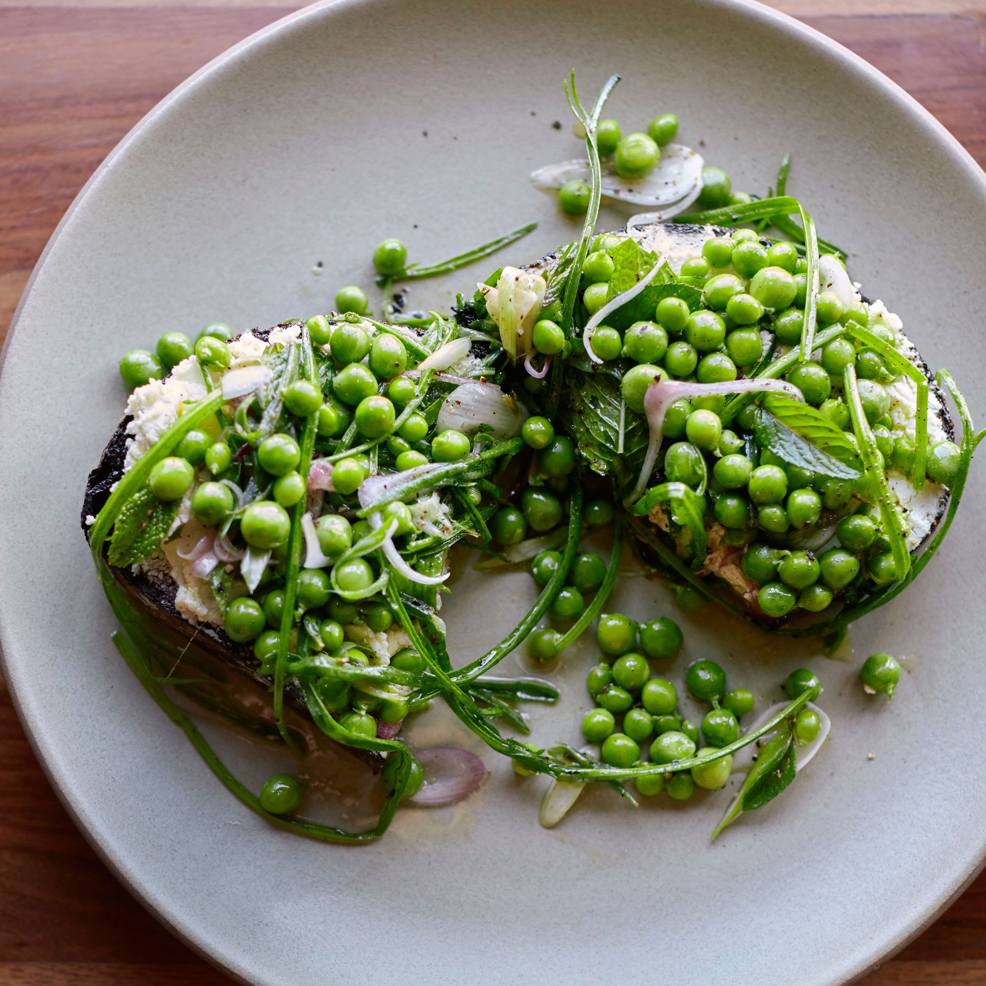 English Pea Toasts image