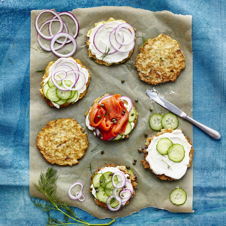 <p>Open-Face Matzo Brei Breakfast Sandwiches image</p>