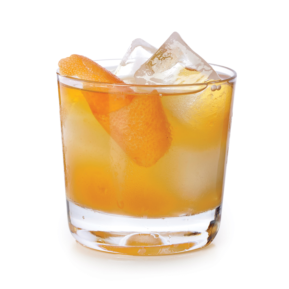 Ginger Simple Syrup Old Fashioned
