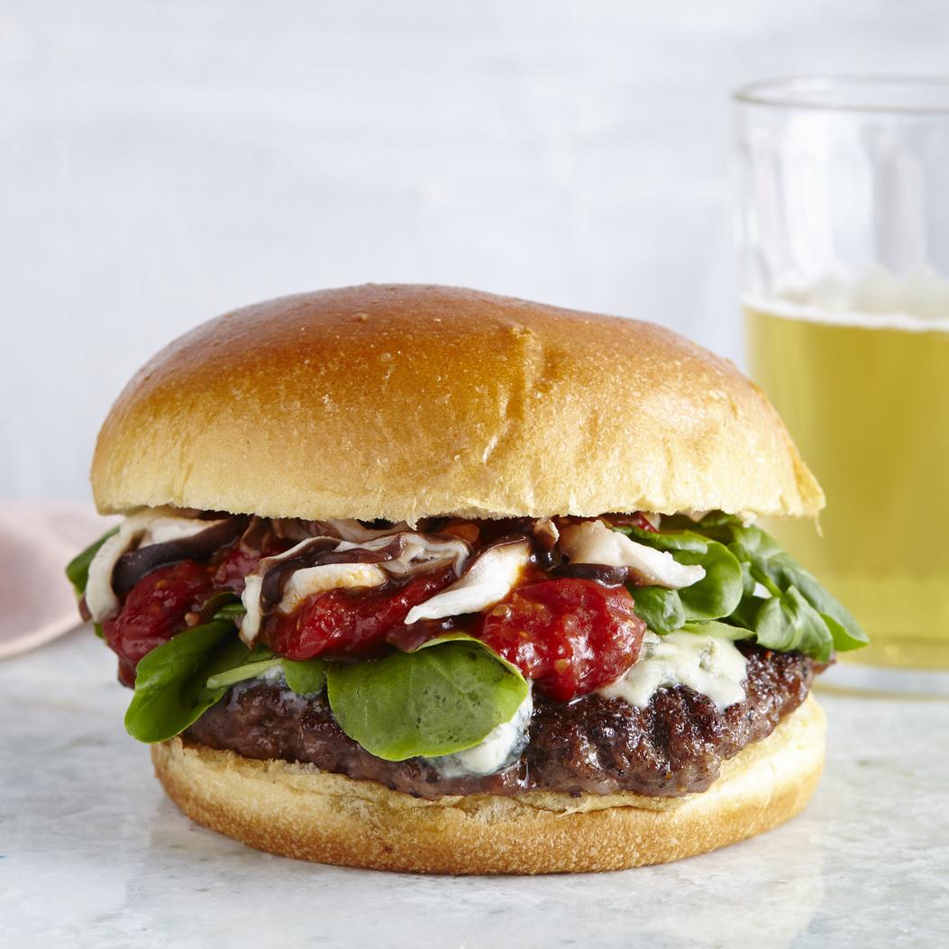 Lamb Burgers with Quick Skillet Ketchup Recipe | MyRecipes