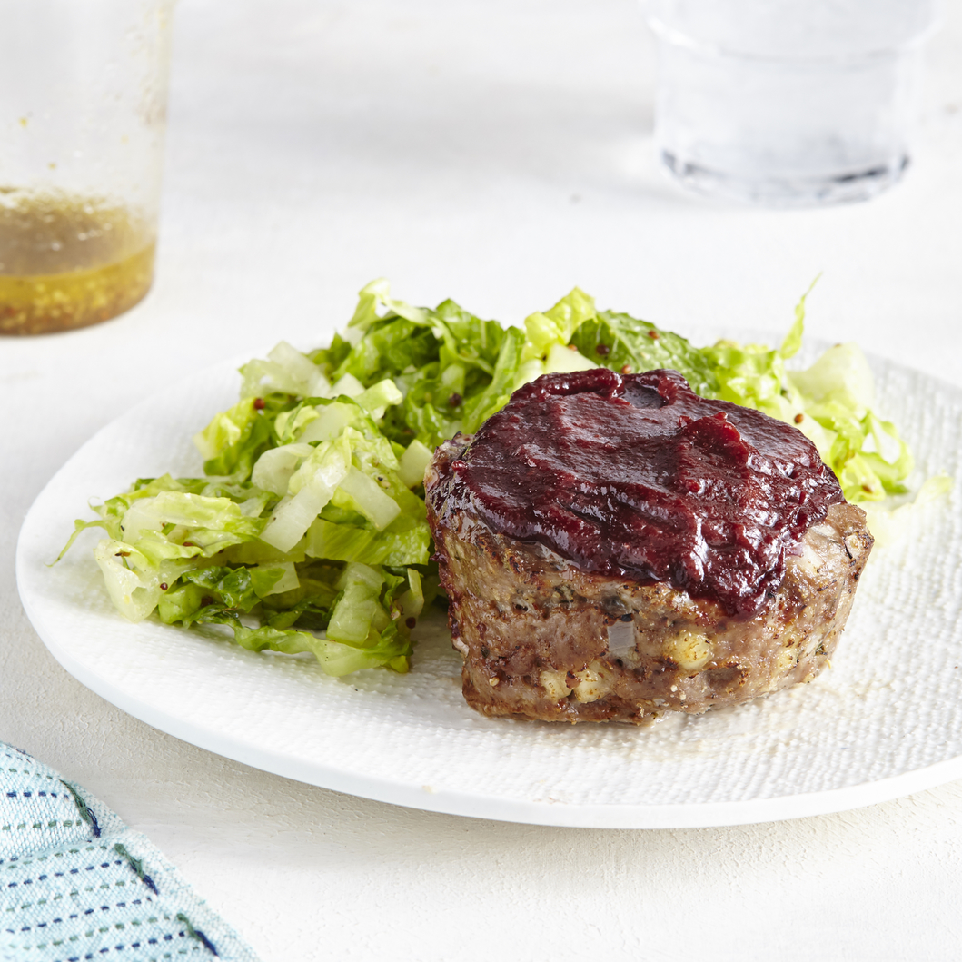 Lamb Meatloaf Muffins with Romaine Salad image
