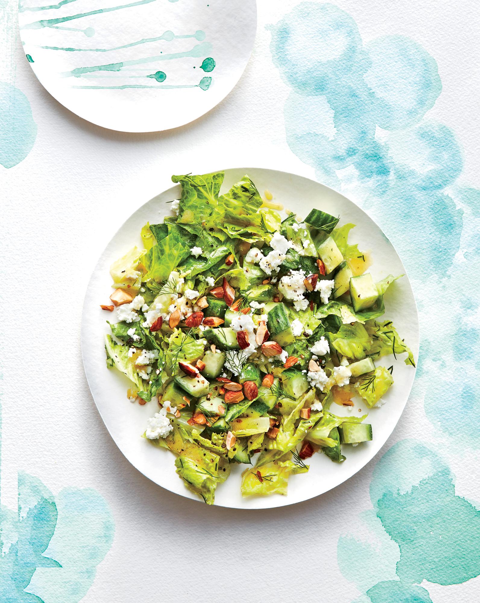 Crunchy Cucumber, Feta, and Almond Salad