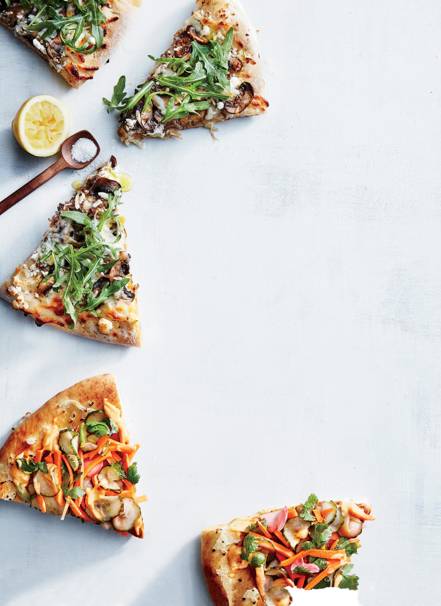 Mushroom and Arugula Pizza
