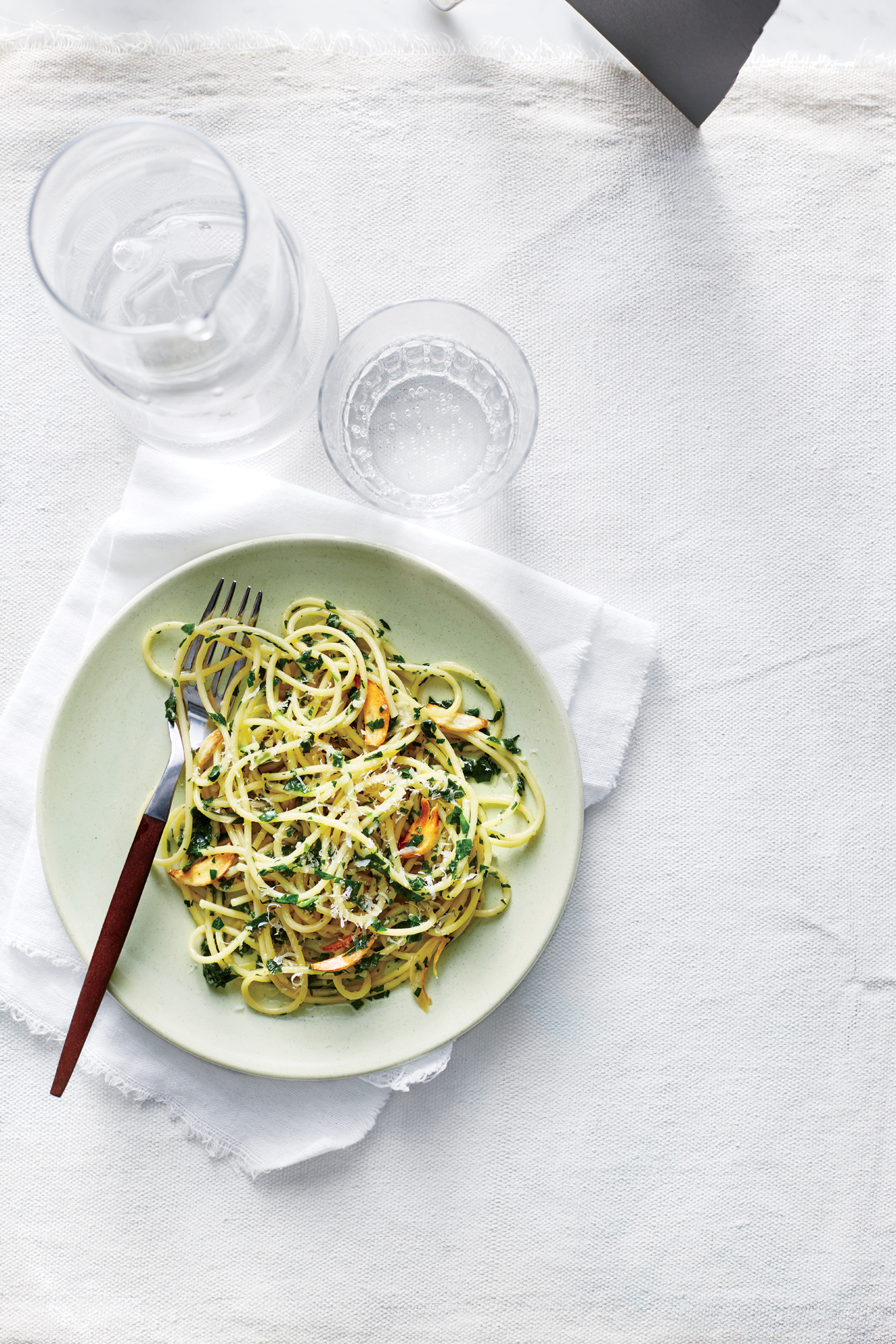 Pretty  Parslied  Spaghetti