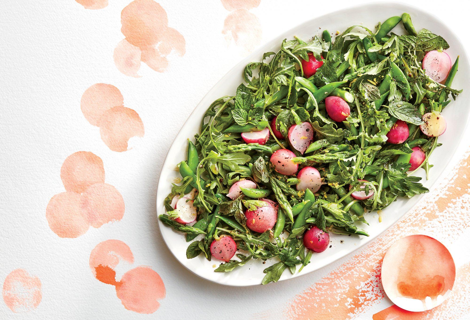 Spring Vegetable and Herb Salad