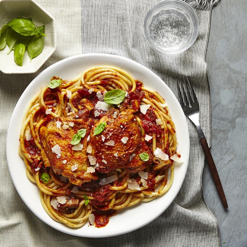 Pressure-Cooker Chicken Spaghetti image