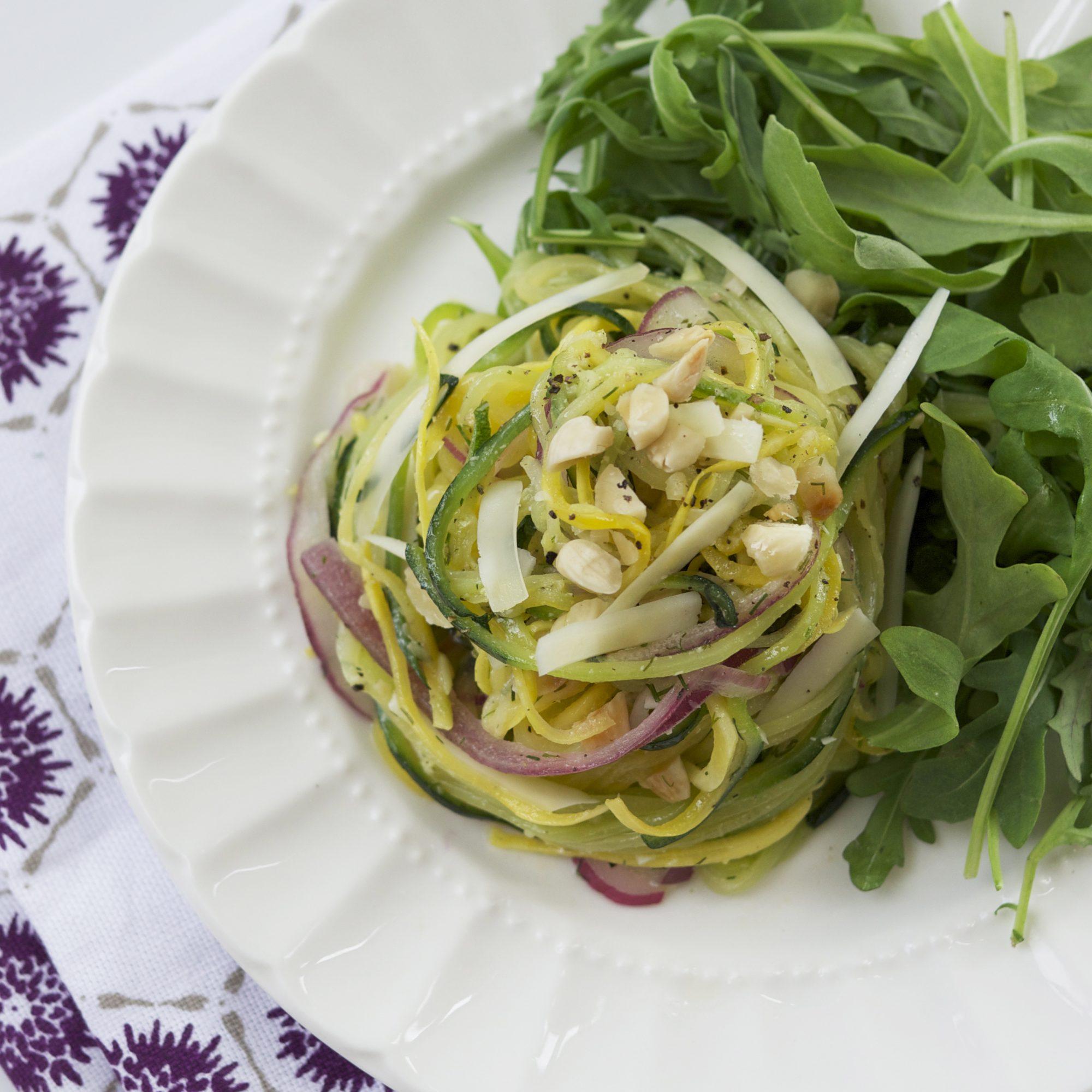 mr-Spiralized Summer Vegetable Salad Image
