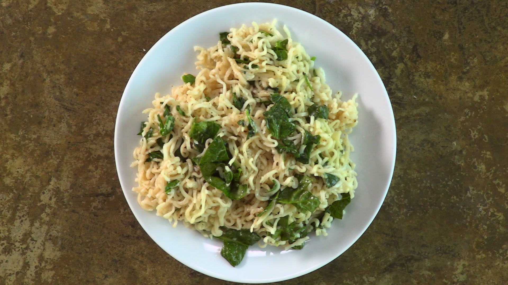 <p>Cheesy Spinach Ramen</p>