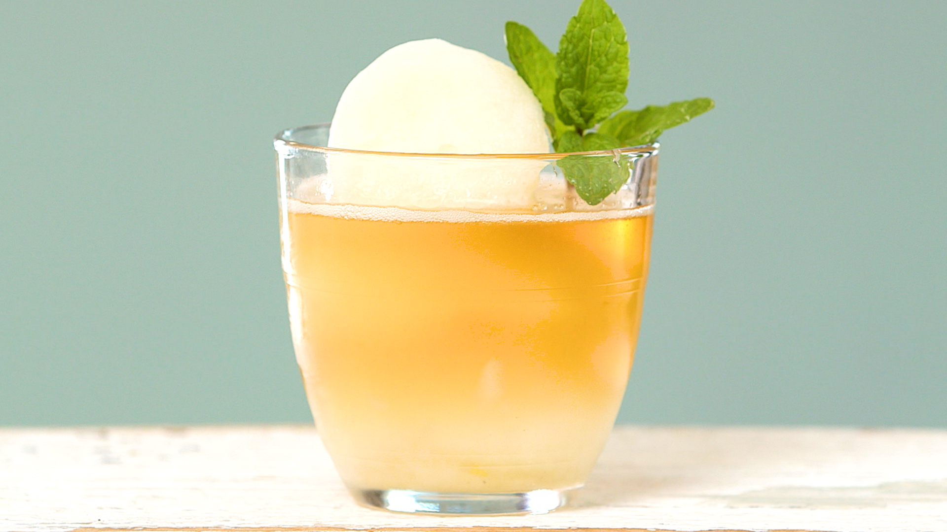 Mint Sorbet with Bourbon image