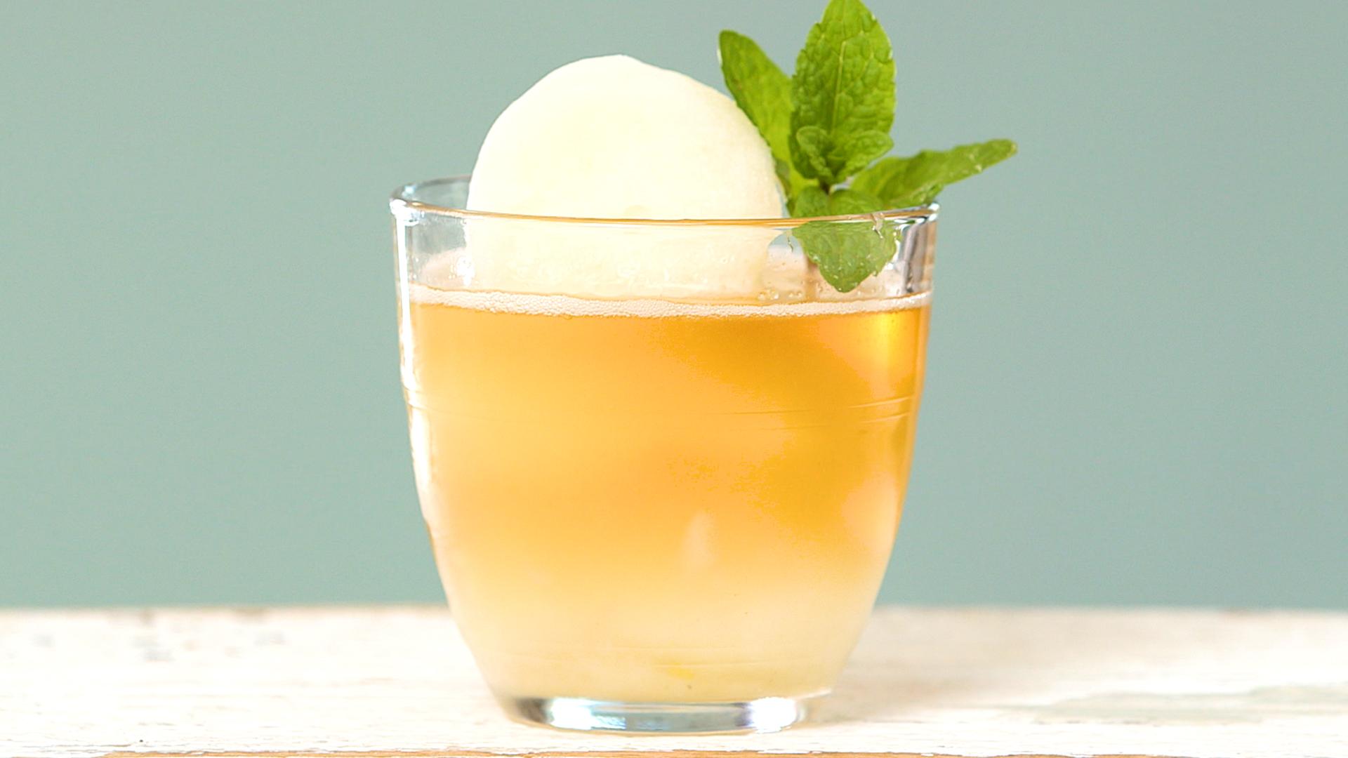 Mint Sorbet with Bourbon image