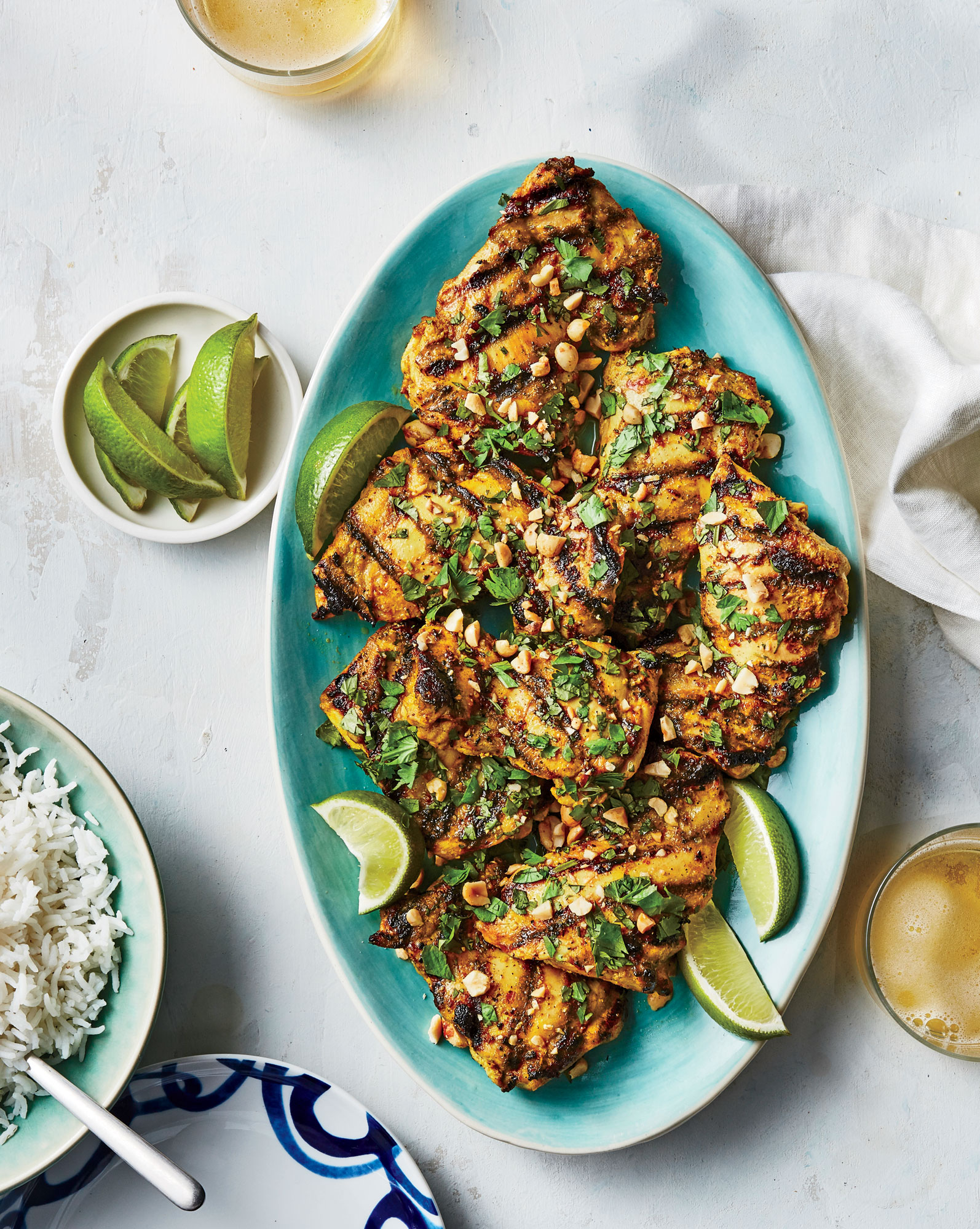 Curried Grilled Chicken Thighs