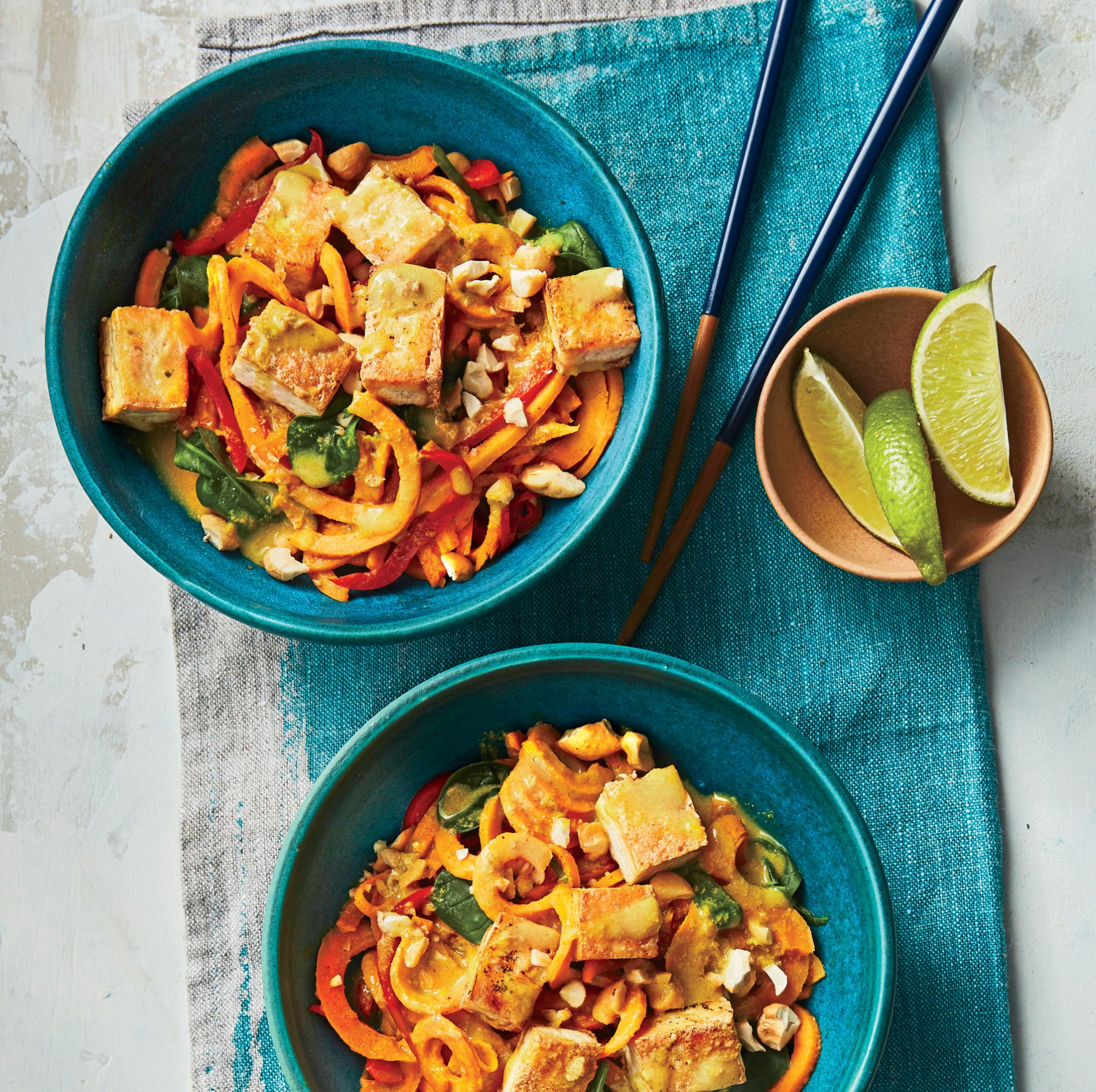 Thai Sweet Potato Noodle Bowls