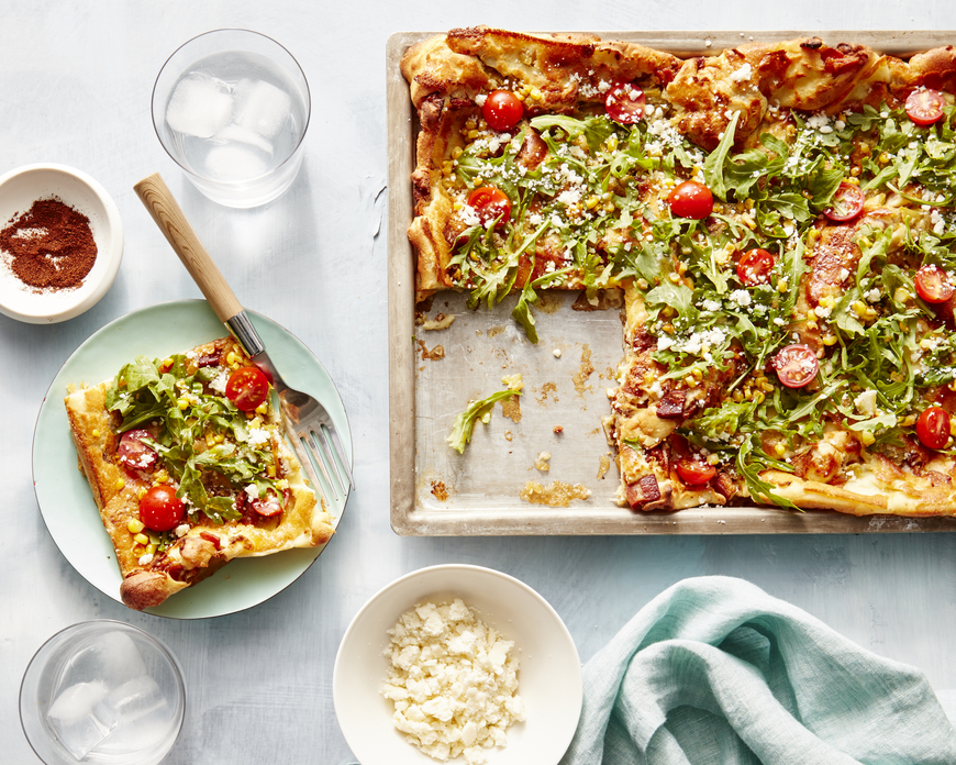 Giant Bacon-Green Chile Dutch Baby image