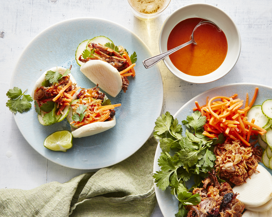 Sheet Pan Carnitas Bao Buns