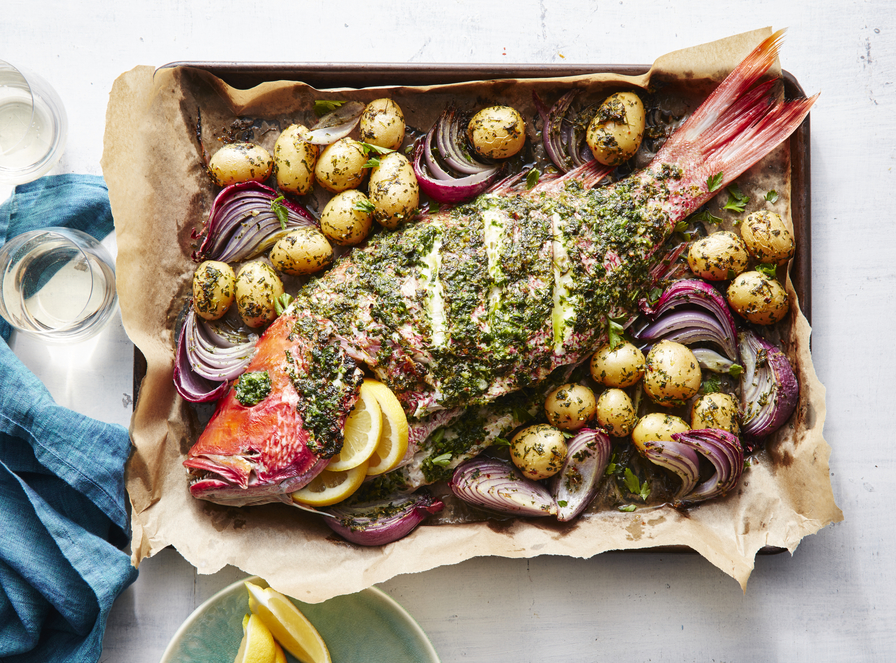 Whole Roasted Red Snapper image