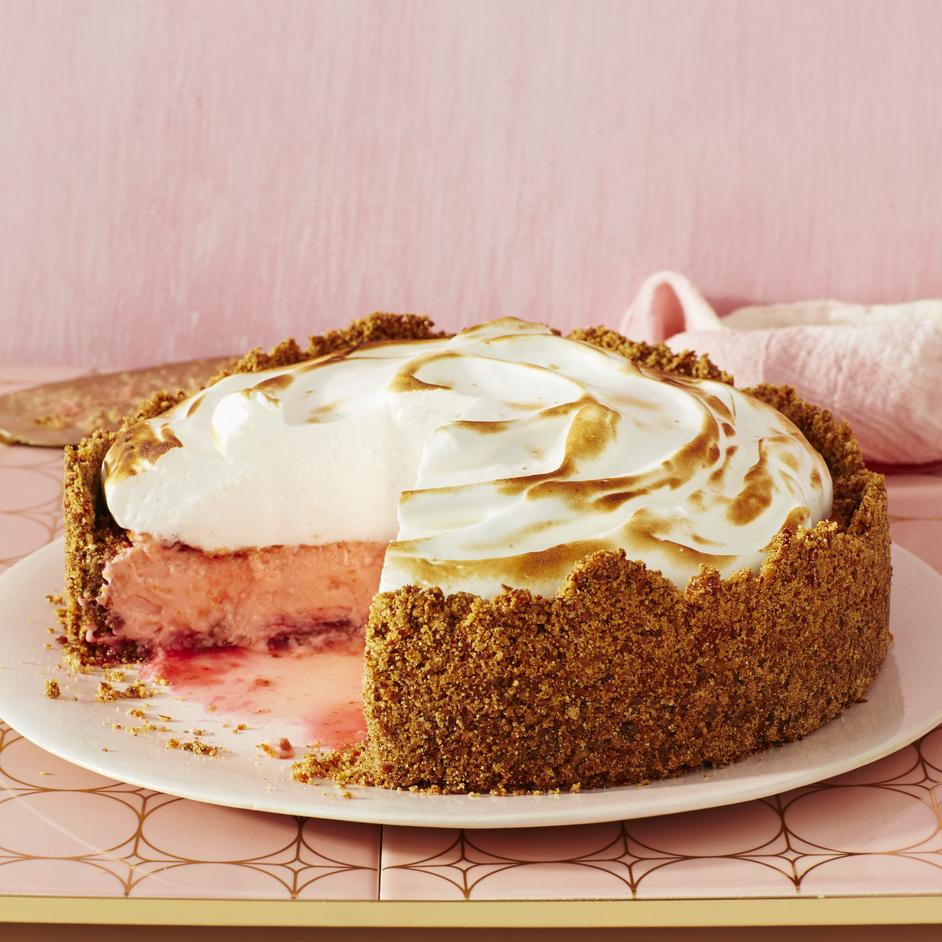 Pink Lemonade Meringue Cheesecake image