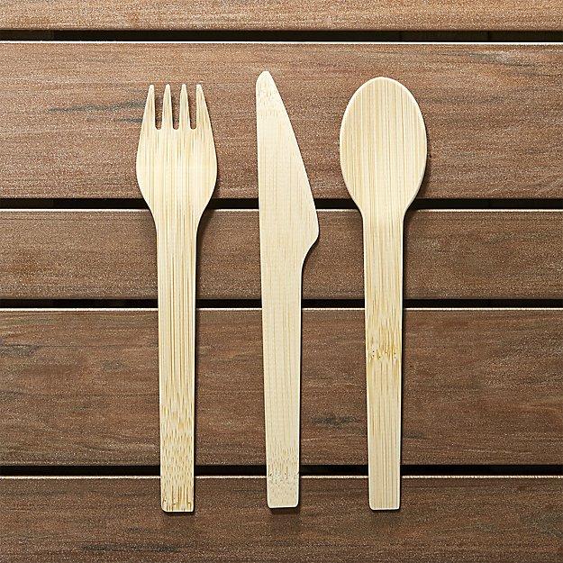 Set of 8 Bambu Flatware Sets