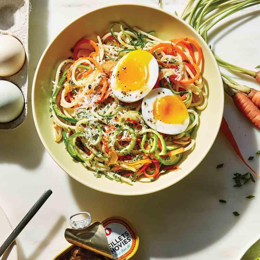 Carrot and Zucchini Spaghetti