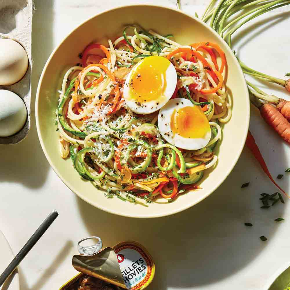 <p>Carrot and Zucchini Spaghetti</p>