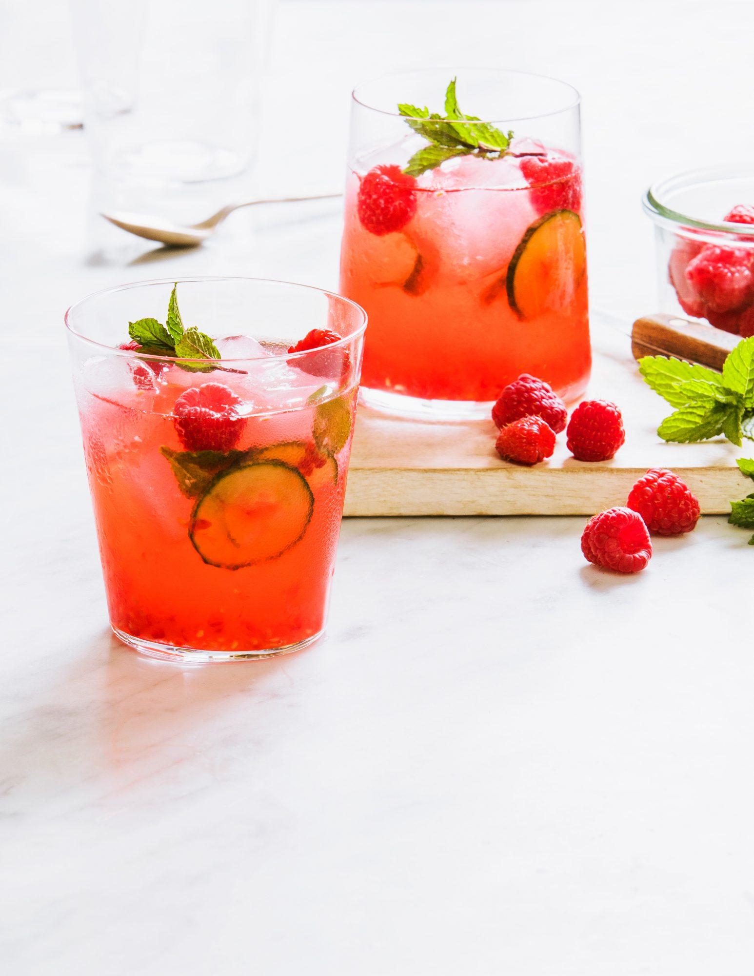 Raspberry, Cucumber, and Mint Smash