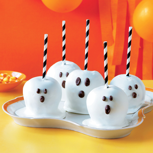 Spooky Candy-Coated Apples