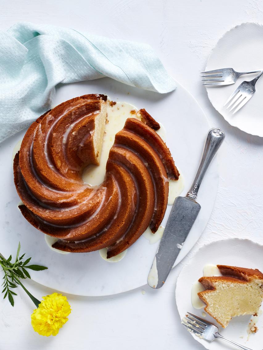 Elderflower Pound Cake with Lemon-Elderflower Glaze image