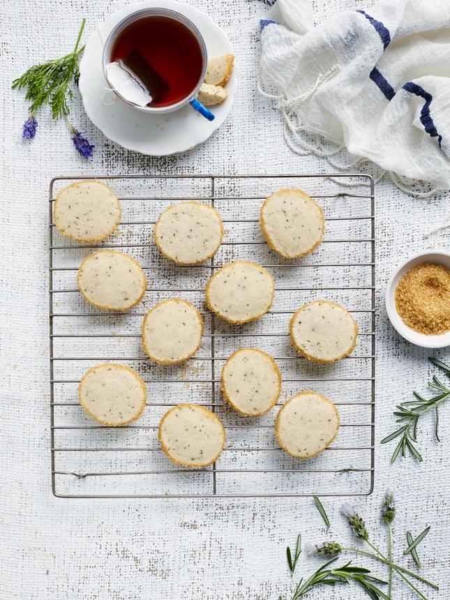 Lavender-Rosemary Shortbread Cookies image
