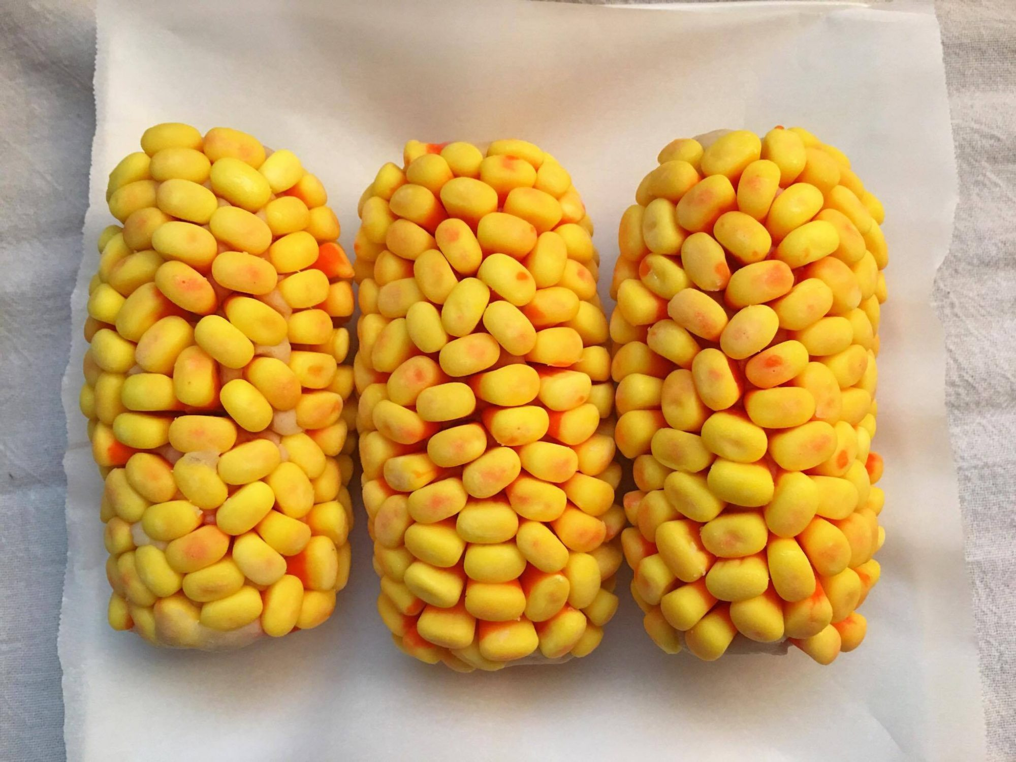 <p>Candy Corn Cobs </p>
