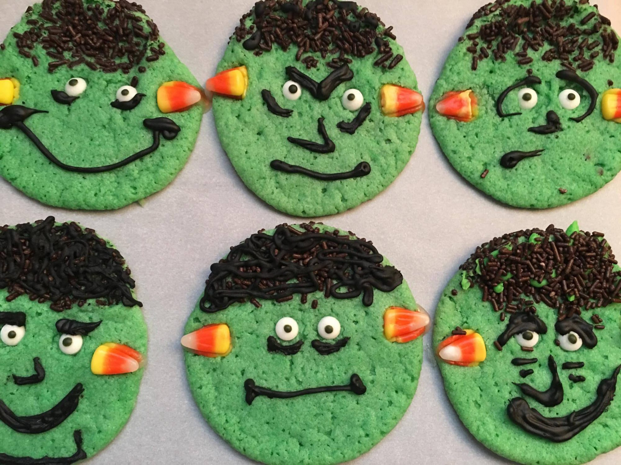 <p>Frankenstein Cookies</p>
