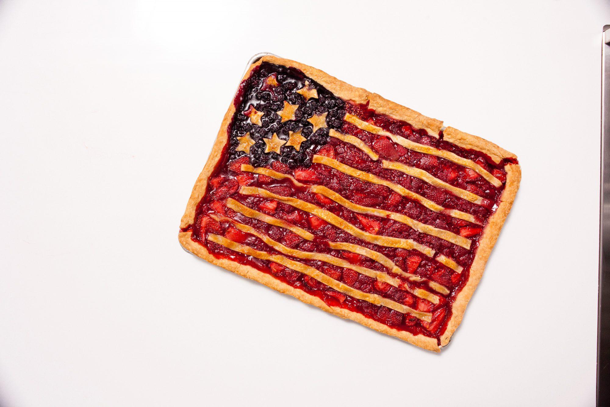 Fourth of July Slab Pie