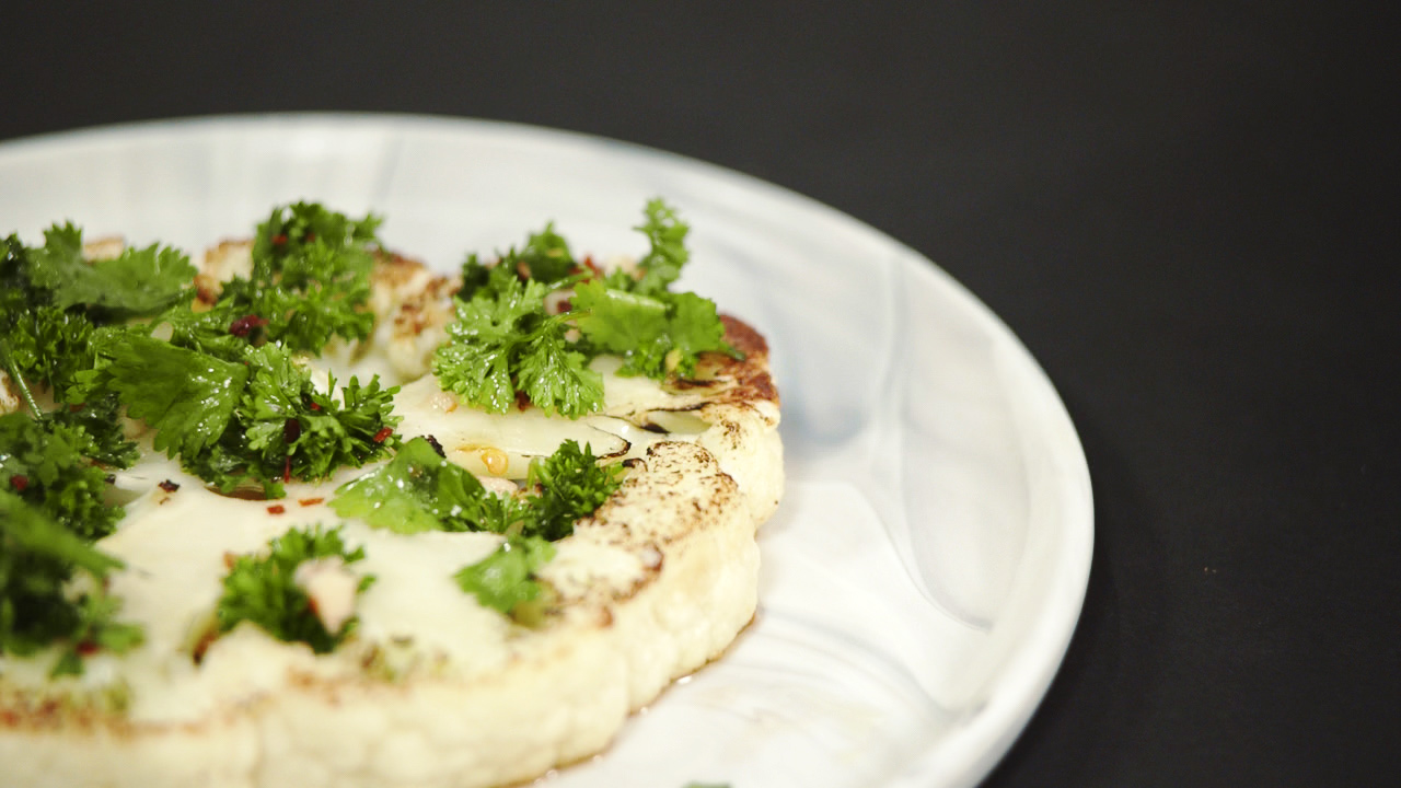 Cast Iron-Seared Cauliflower Steak