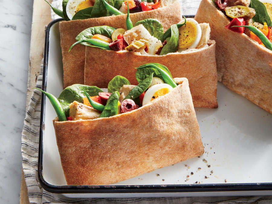 Tuna-and-Pickled-Vegetable Pita Pockets