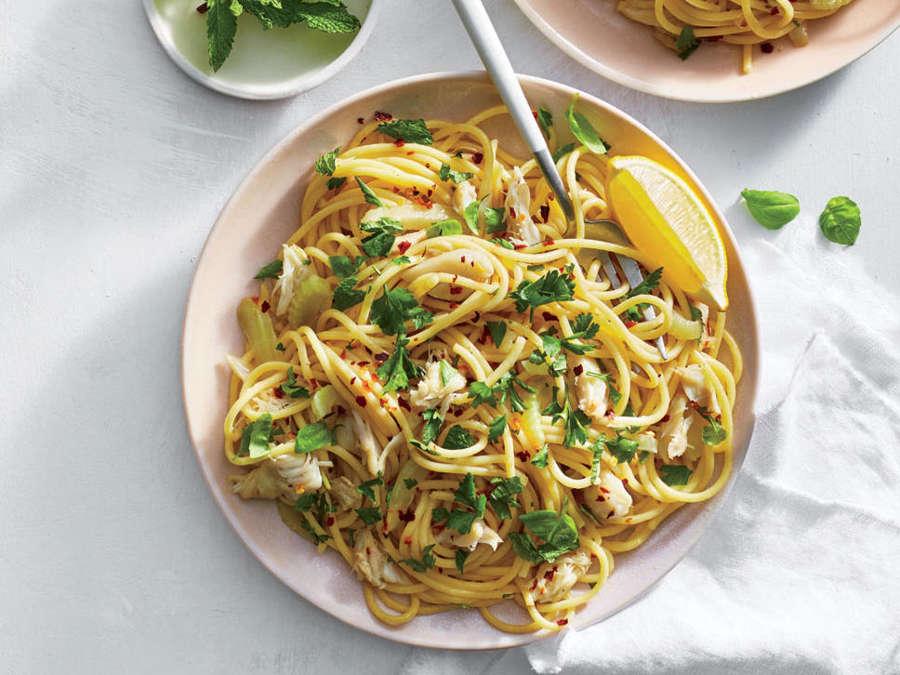 ck-Crab, Fennel, and Basil Spaghetti